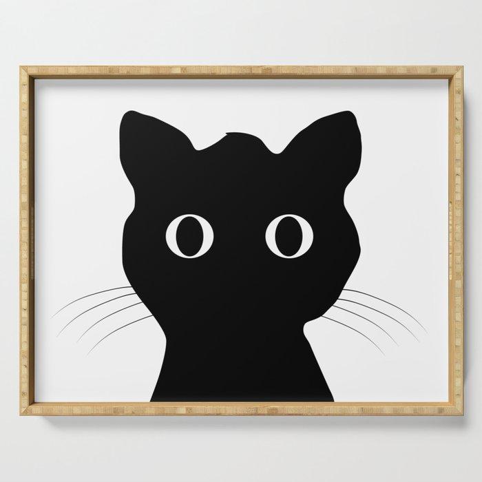 Black eyes cat Serving Tray