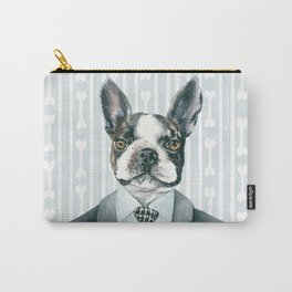 Boston Terrier Dressed for Dinner Carry-All Pouch