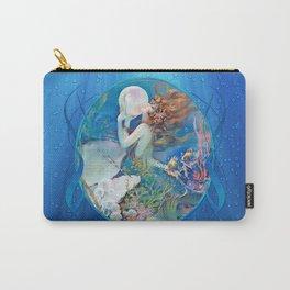 Sensual Art Deco Pearl Mermaid Carry-All Pouch