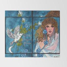 White Winged Dove Throw Blanket
