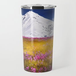 When Flowers Bloom And The Mountains Froze Travel Mug