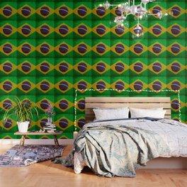 Cracked Brazil flag Wallpaper