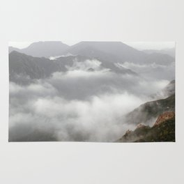 landscape mountains clouds over the clouds Rug