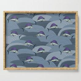 Swordfish Espadon | Pattern Art Serving Tray