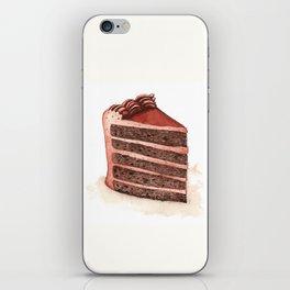 Chocolate Layer Cake Slice iPhone Skin