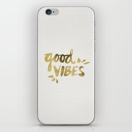 Good Vibes – Gold Ink iPhone Skin