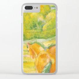 """Franz Marc """"Large Landscape I (Landschaft I)"""" Clear iPhone Case"""