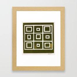 Hollywood Squares - Olive Framed Art Print