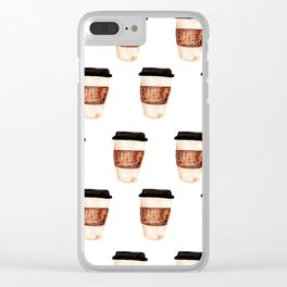 Coffee and Hustle on the Go Clear iPhone Case