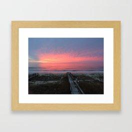 Carolina Sunset  Framed Art Print
