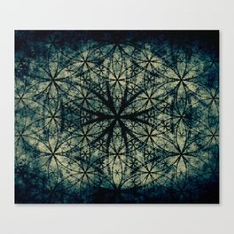 Sacred Geometry for your daily life -  ESOTERIC FLOWER OF LIFE Canvas Print