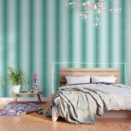 Faded teal blue and white swirls doodles Wallpaper