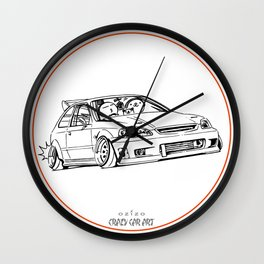 Crazy Car Art 0217 Wall Clock