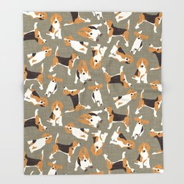 beagle scatter stone Throw Blanket