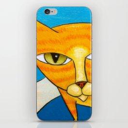 Cute Orange Kitty iPhone Skin