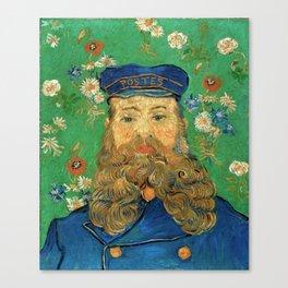 Portrait of Joseph Roulin by Vincent Van Gogh, 1889 Canvas Print