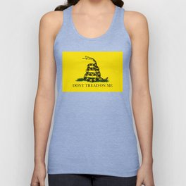 "Gadsden ""Don't Tread On Me"" Flag, High Quality image Unisex Tank Top"