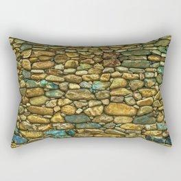 Natural Rock Wall Art Design Rectangular Pillow