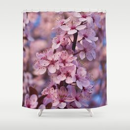 Backyard Blossoms Shower Curtain