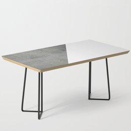 Concrete Vs White Coffee Table