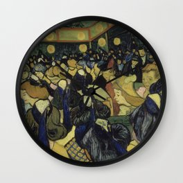 The Dance Hall in Arles Wall Clock
