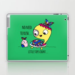 """""""Little Steps Count"""" / Turtle and His Friend Laptop & iPad Skin"""