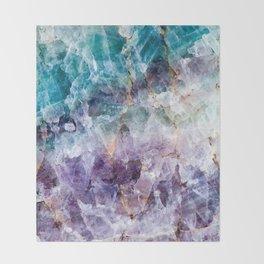 Turquoise & Purple Quartz Crystal Throw Blanket