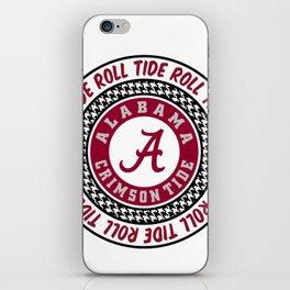 Alabama University Roll Tide Crimson Tide iPhone Skin