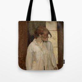 """Henri de Toulouse-Lautrec """"At Montrouge ( Rosa la Rouge)"""" Tote Bag"""