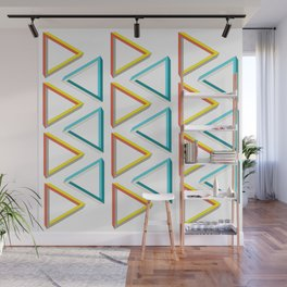Impossible triangles geeky pattern. Wall Mural