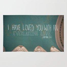 An Everlasting Love     Jeremiah 31:3 Rug