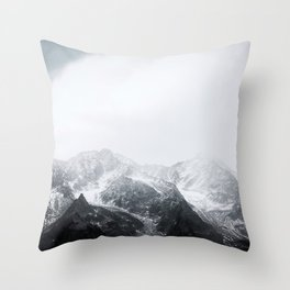 Morning in the Mountains - Nature Photography Throw Pillow