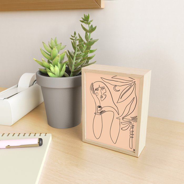 coffee and banana palms Framed Mini Art Print