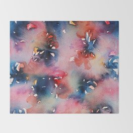 Pink Flowers Perfume Throw Blanket