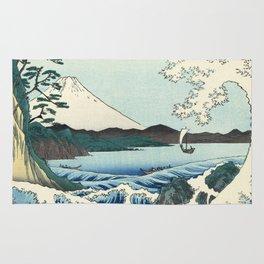 Utagawa Hiroshige - Seascape in Satta, 1858 Rug