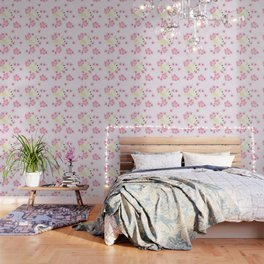 Polly's Pink Hibiscus Party Wallpaper