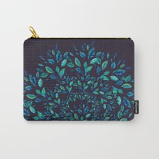 Blue Leaves Mandala Carry-All Pouch