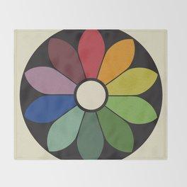 James Ward's Chromatic Circle Throw Blanket