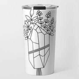 Crystal Flower Bouquet Travel Mug