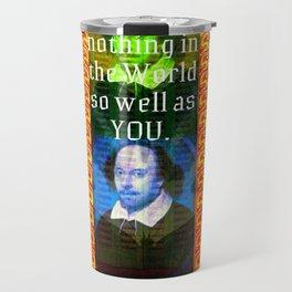 William Shakespeare Romantic LOVE Quote Travel Mug