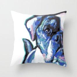 American Bulldog Pop Art by Lea Throw Pillow