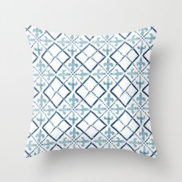 Azulejo III - Portuguese hand painted tile Throw Pillow