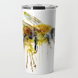 Watercolor Bee Travel Mug