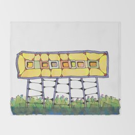 Funky yellow architectural design 51 Throw Blanket