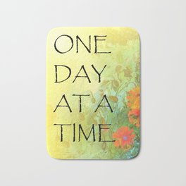 One Day at a Time (ODAT) Lilacs & Poppies Bath Mat