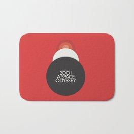 2001 A Space Odyssey - Stanley Kubrick minimalist movie poster, Red Version, fantasy film Bath Mat