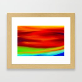 ABSTRACT COLORS I Framed Art Print