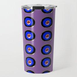 ronds concentriques violet Travel Mug