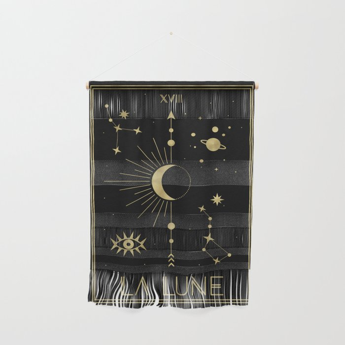 The Moon or La Lune Gold Edition Wall Hanging