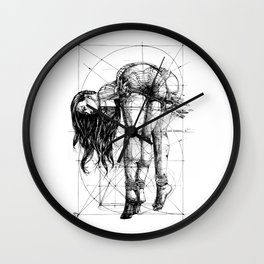 Lady on Table. Workbench. Yury Fadeev. Wall Clock